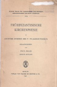 FRUHBYZANTINISCHE KIRCHENPOESIE