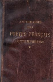 ANTHOLOGIE DES POETES FRANCAIS CONTEMPORAINS