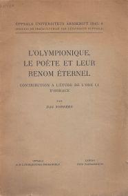 L' OLYMPIONIQUE LE POETE ET LEUR RENOM ETERNEL