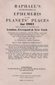 RAPHAEL'S ASTRONOMICAL EPHEMERIS OF THE PLANETS' PLACES FOR 1983