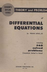 THEORY AND PROBLEMS OF DIFFERENTIAL EQUATIONS