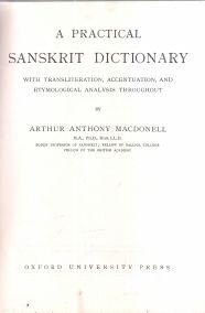 A PRACTICAL SANSKRIT (ΣΑΝΚΡΙΤΙΚΟ) DICTIONARY