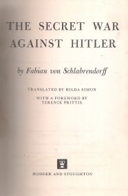 THE SECRET WAR AGAINST HITLER