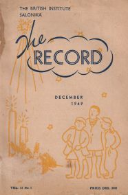 THE RECORD (VOLUME 2, NO 1) DECEMBER 1949
