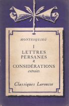 LETTRES PERSANES - CONSIDERATIONS EXTRAITS