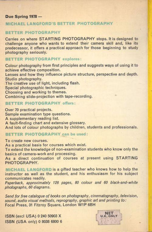 STARTING PHOTOGRAPHY - MICHAEL LANGFORD