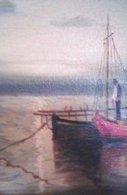 ALEX BRICKMAN (GREEK,1900-1954) - FISHERMAN IN THE SHIP