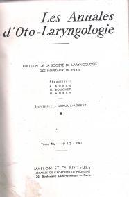 LES ANNALES D'OTO-LARYNGOLOGIE