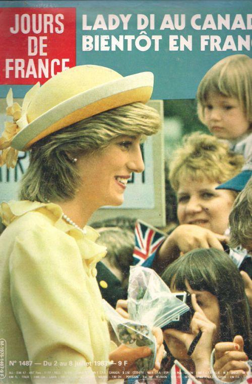 JOUR DEFRANCE - LADY DI AU CANADA BIENTOT EN FRANCE No 1487 8 JUILLET 1983
